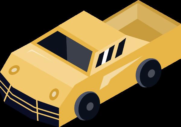 车汽车皮卡货车交通工具