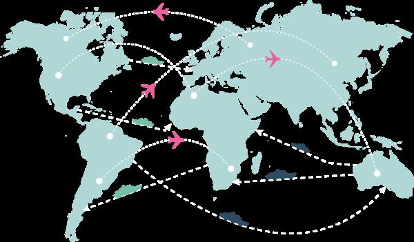地图地球飞机旅行旅游