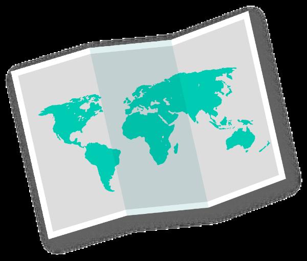 地图图折页旅行旅游