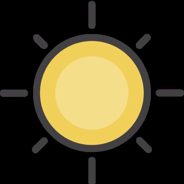 太阳手绘矢量天气夏天