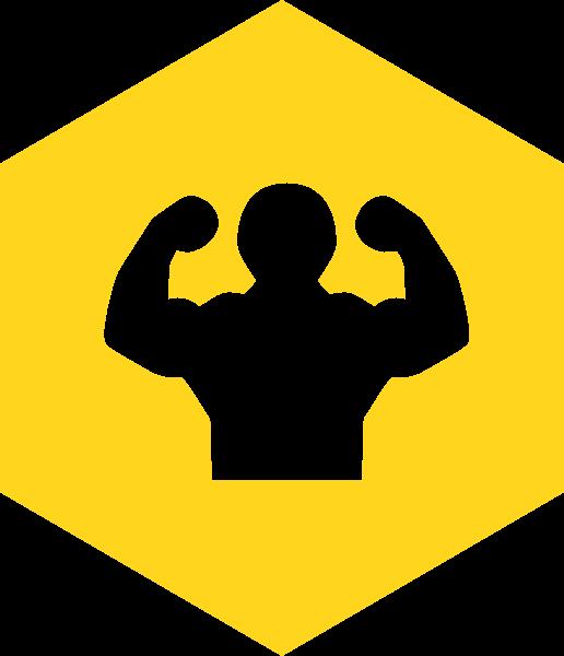强壮肌肉健身力量强大