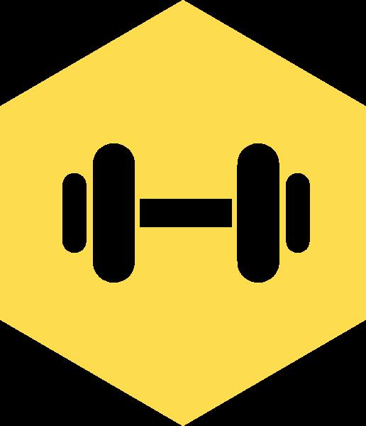 哑铃图标标志标识健身