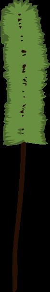 松树叶子树叶手绘水彩绿色