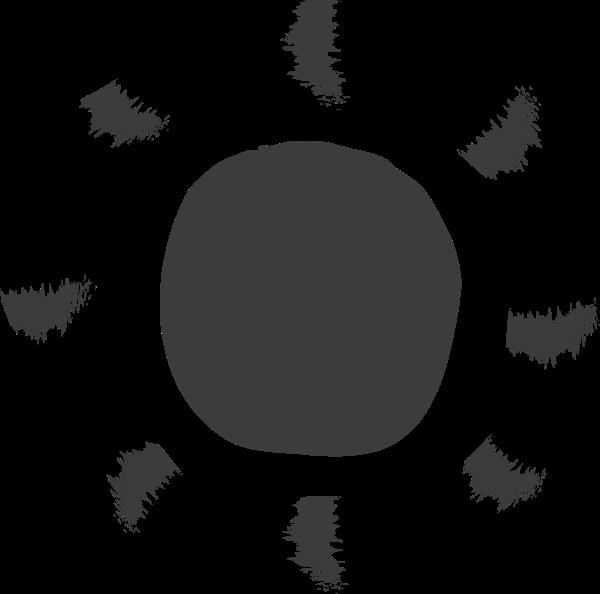 太阳阳光涂鸦圆圈圆形