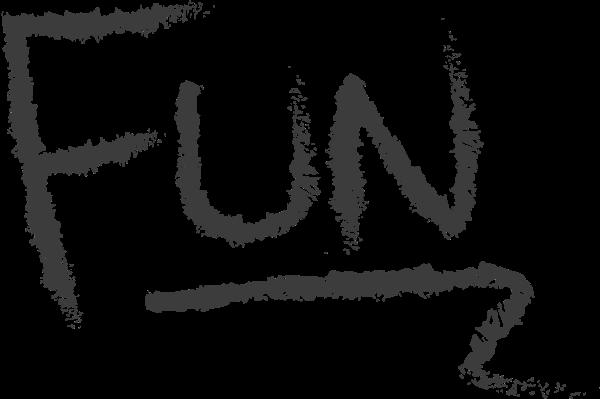 字母fun涂鸦文字开心