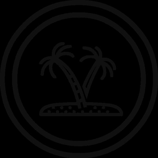椰子树树图标标志夏天