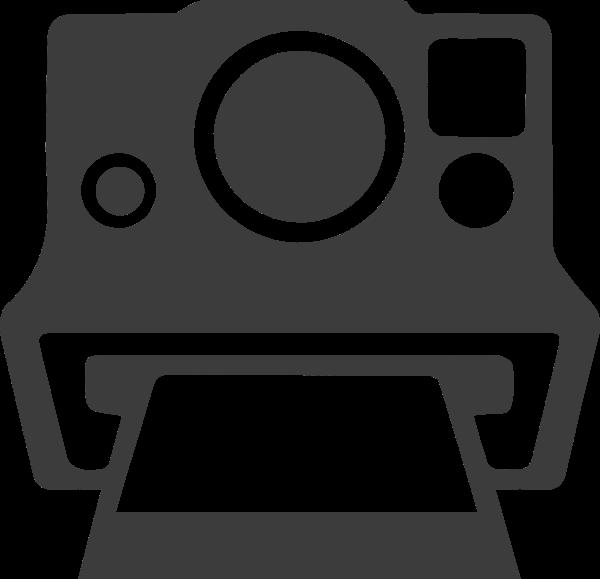 相机照片拍立得标志图标