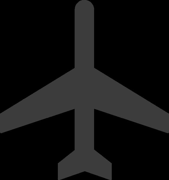 飞机飞行模式标志图标剪影