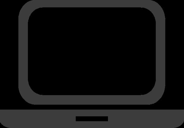 电脑笔记本电脑台式电脑剪影标志