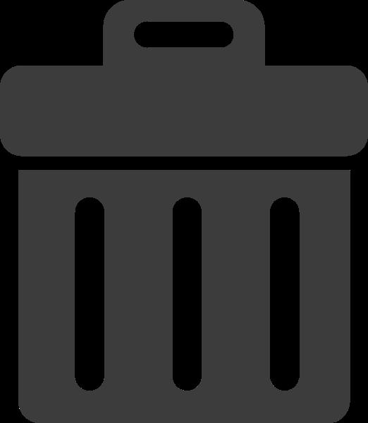 垃圾桶回收站刪除標示圖標