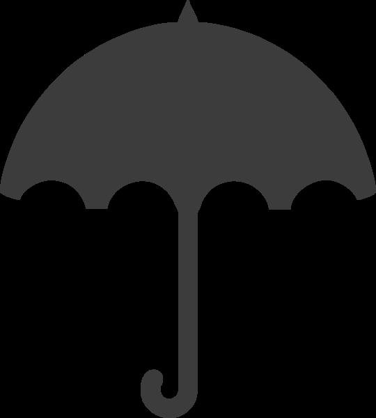 雨傘傘標示圖標黑白