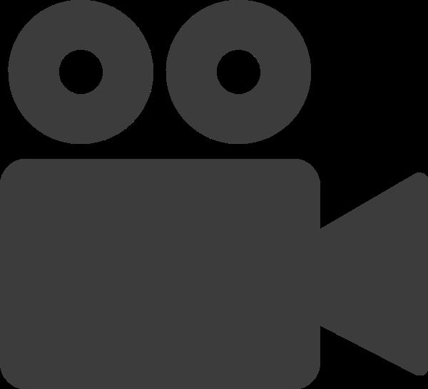 视频录像标示图标黑白