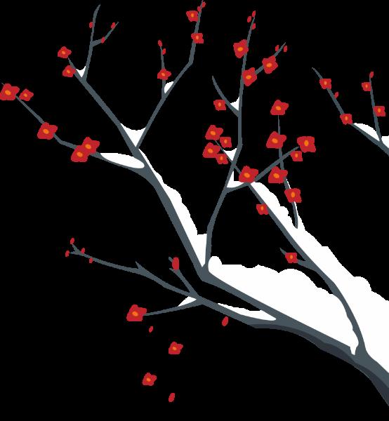 腊梅雪冬季雪树中国风