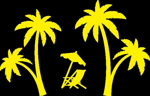 树木植物椰子树树躺椅