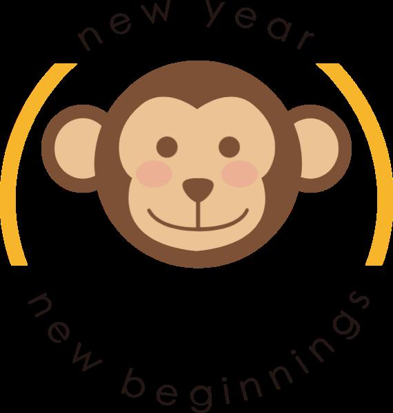 猴子图标卡通图案标志