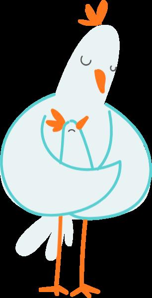 鸡母爱节日母亲节感恩节