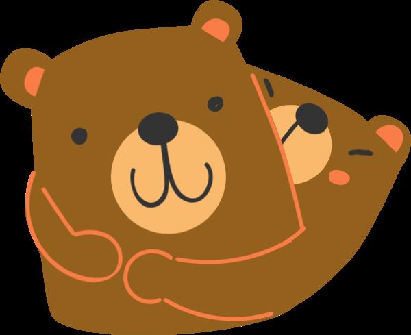 熊母爱节日母亲节感恩节