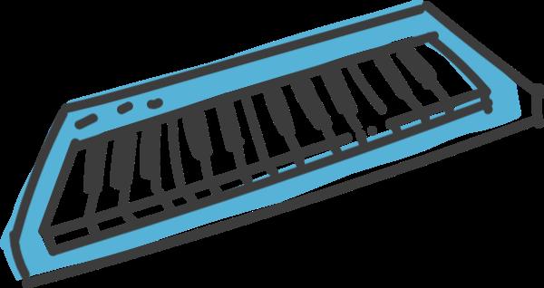 卡通电子琴乐器手绘琴键