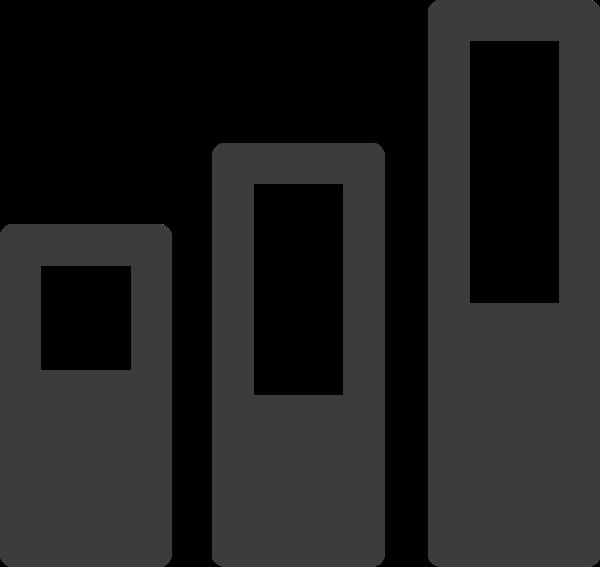 信号电量图标简笔黑白符号