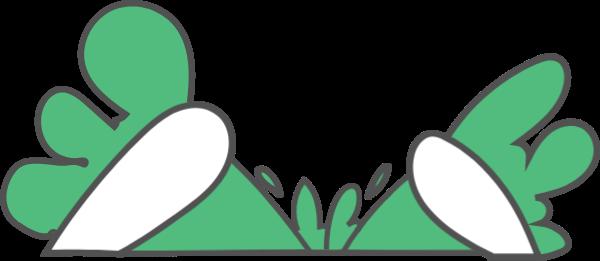 兔子萝卜绿色可爱卡通