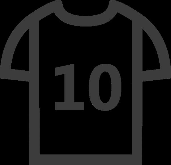 衣服t恤足球运动员足球图标
