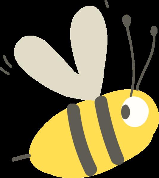 蜜蜂昆虫可爱装饰手绘