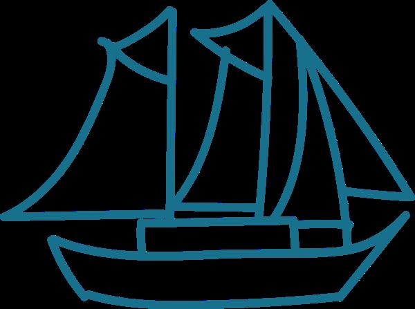 帆船船水手可爱手绘