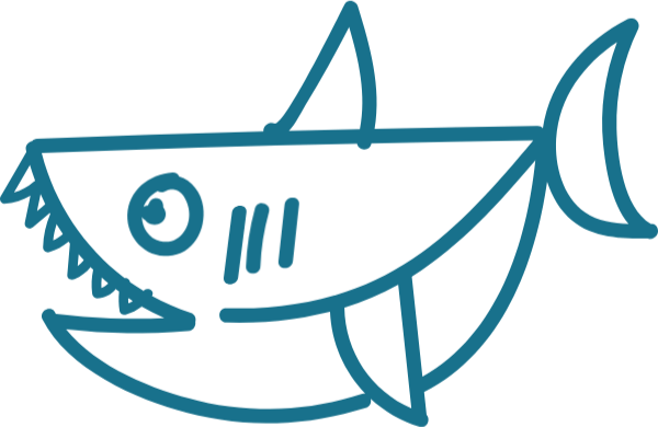 鲨鱼动物鱼可爱手绘