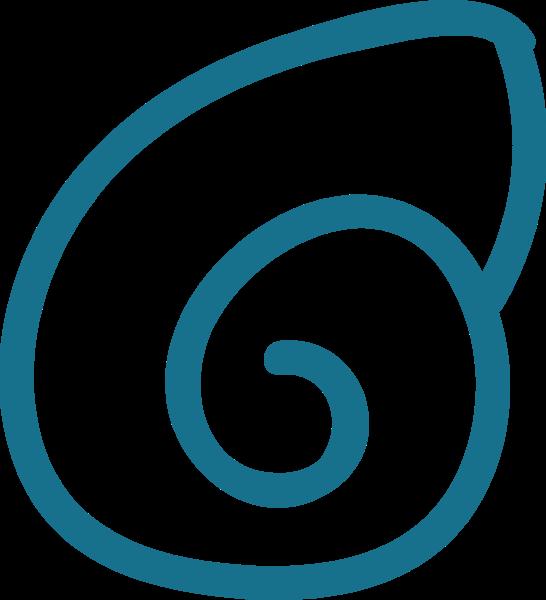 贝壳海螺海滩手绘蓝色