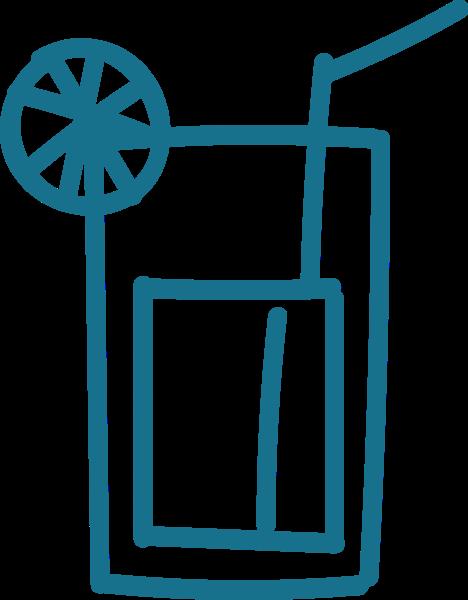 饮料果汁水杯简笔画手绘