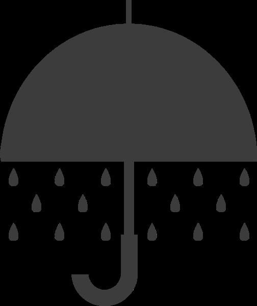 雨伞伞手绘夏天黑白