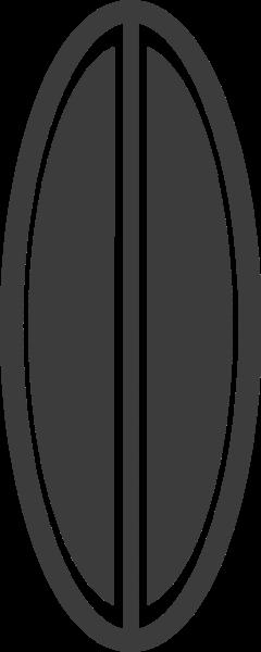 冲浪板简约黑白夏天标志