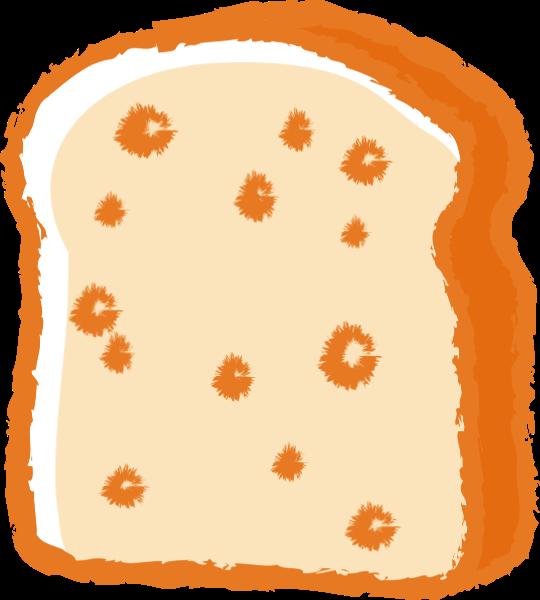 吐司面包面包塊面包片手繪
