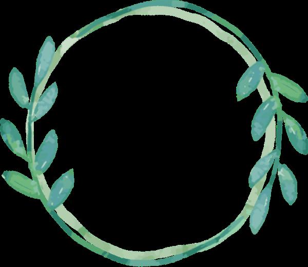 枝芽花框边框橄榄枝荆棘环