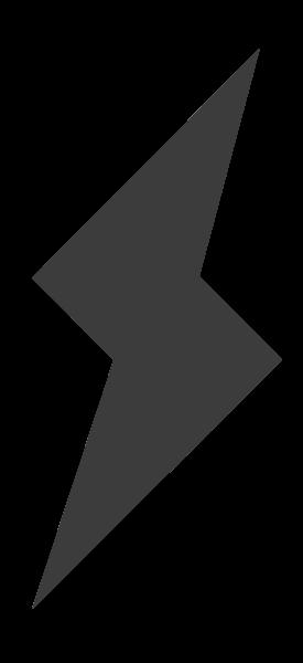 闪电天气形状黑白图标