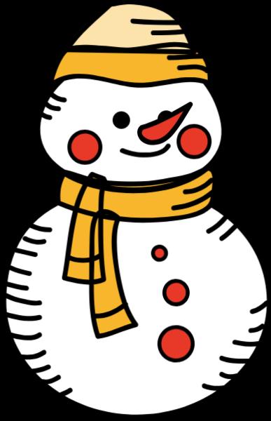 雪人堆雪人冬天卡通可爱