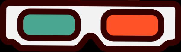 3d眼镜眼镜卡通电影电影院