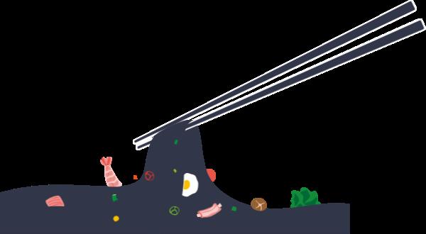 面海鮮面面條拉面筷子