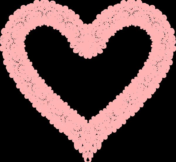 桃心心形愛心框邊框