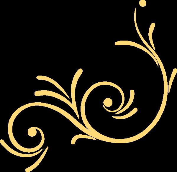 花纹装饰花卉黄色边框