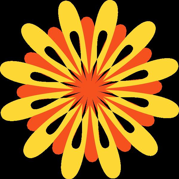 菊花花朵花卡通黄色