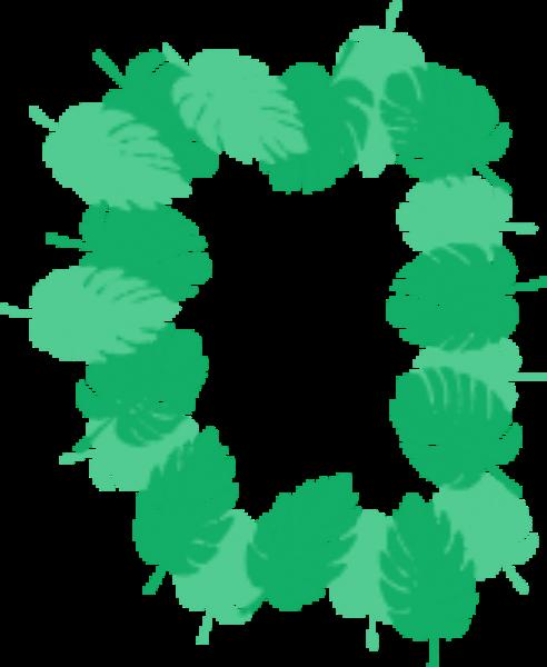 叶子绿叶树叶花边装饰