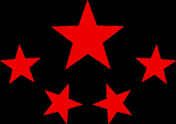 五角星排列神圣庄重装饰元素