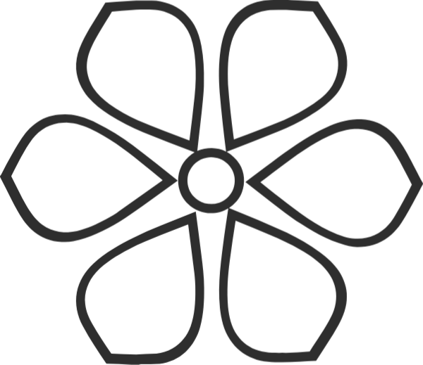 花朵花花卉黑白简约