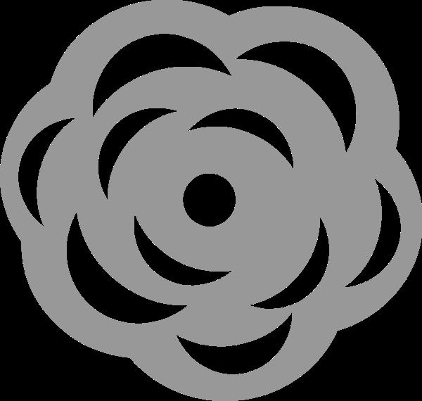 花朵花花卉标识剪影