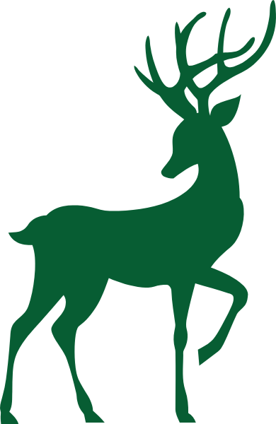 梅花鹿圣诞鹿动物剪影装饰