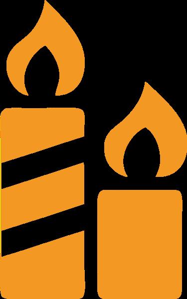 蜡烛黄色聚会庆祝祈祷