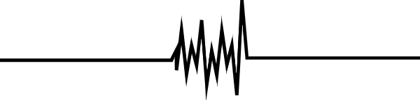 心电图线条线段线边框
