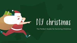 深绿色卡通圣诞老人主题封面