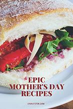 白色母亲节食谱主题海报